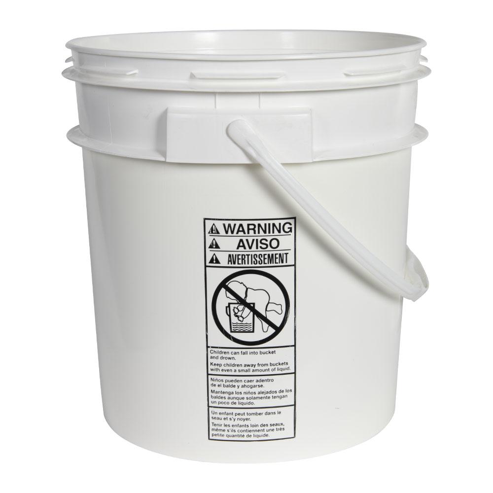Smart Seal™ White 4 Gallon Bucket
