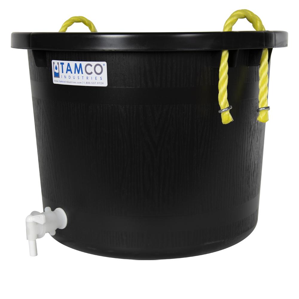 10 Gallon Black Multi-Purpose Bucket with Spigot