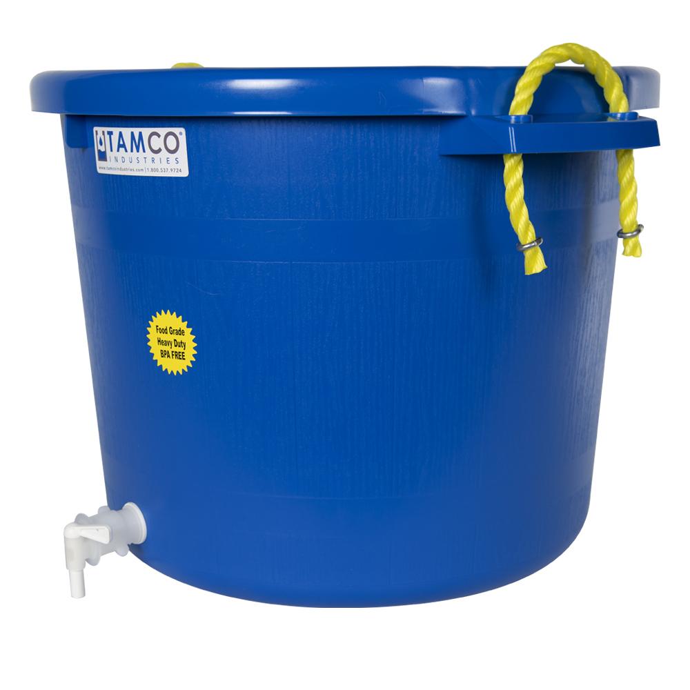 17-1/2 Gallon Blue Multi-Purpose Bucket with Spigot