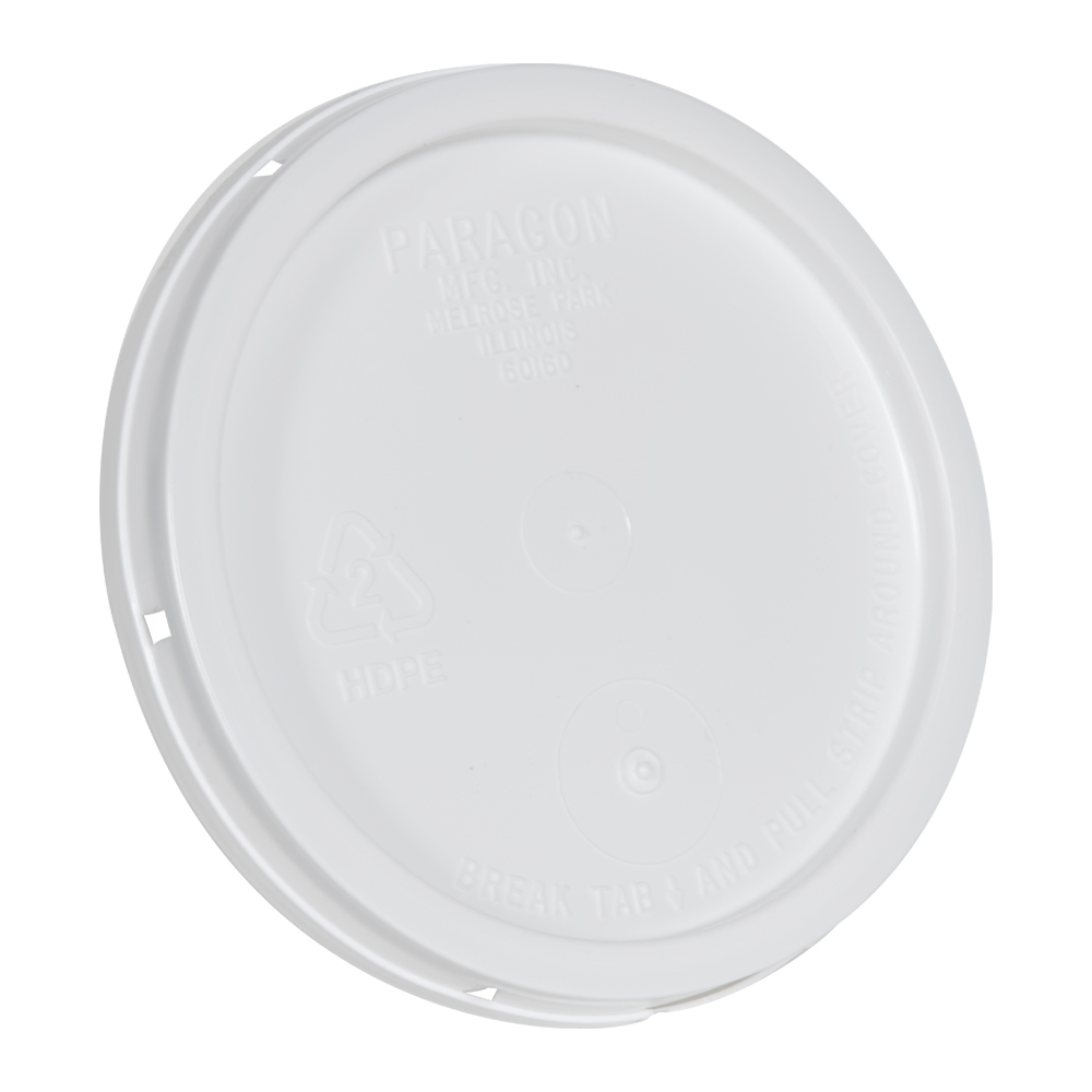 White Tear Tab Lid for 1 Gallon Buckets