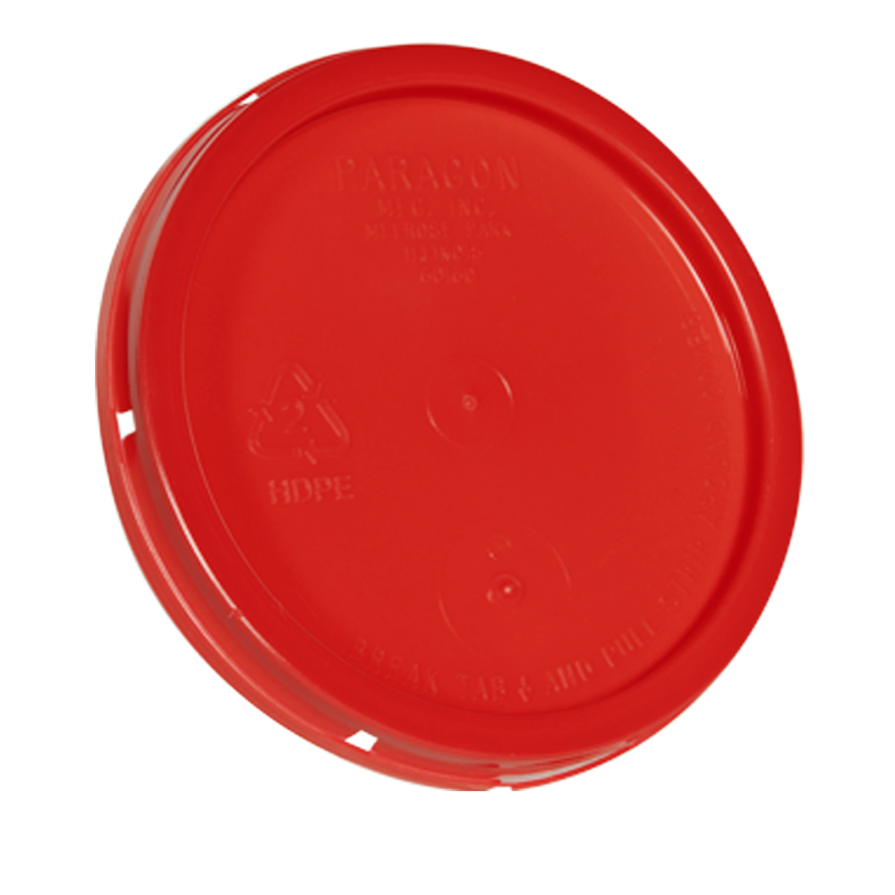 Red Tear Tab Lid for 1 Gallon Buckets