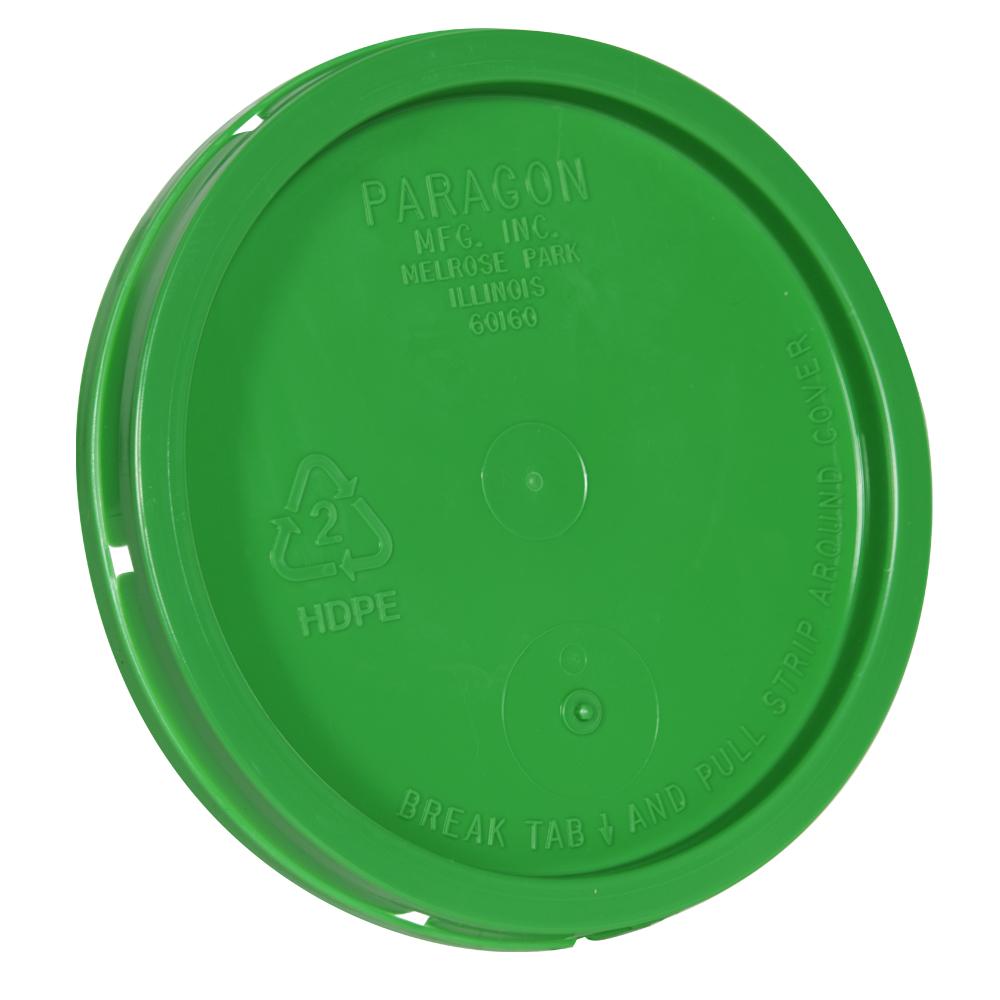 Green Tear Tab Lid for 1 Gallon Buckets