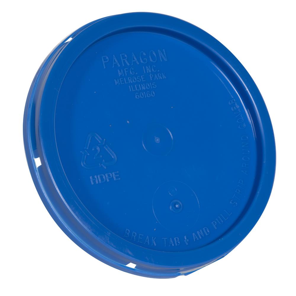 Blue Tear Tab Lid for 1 Gallon Buckets