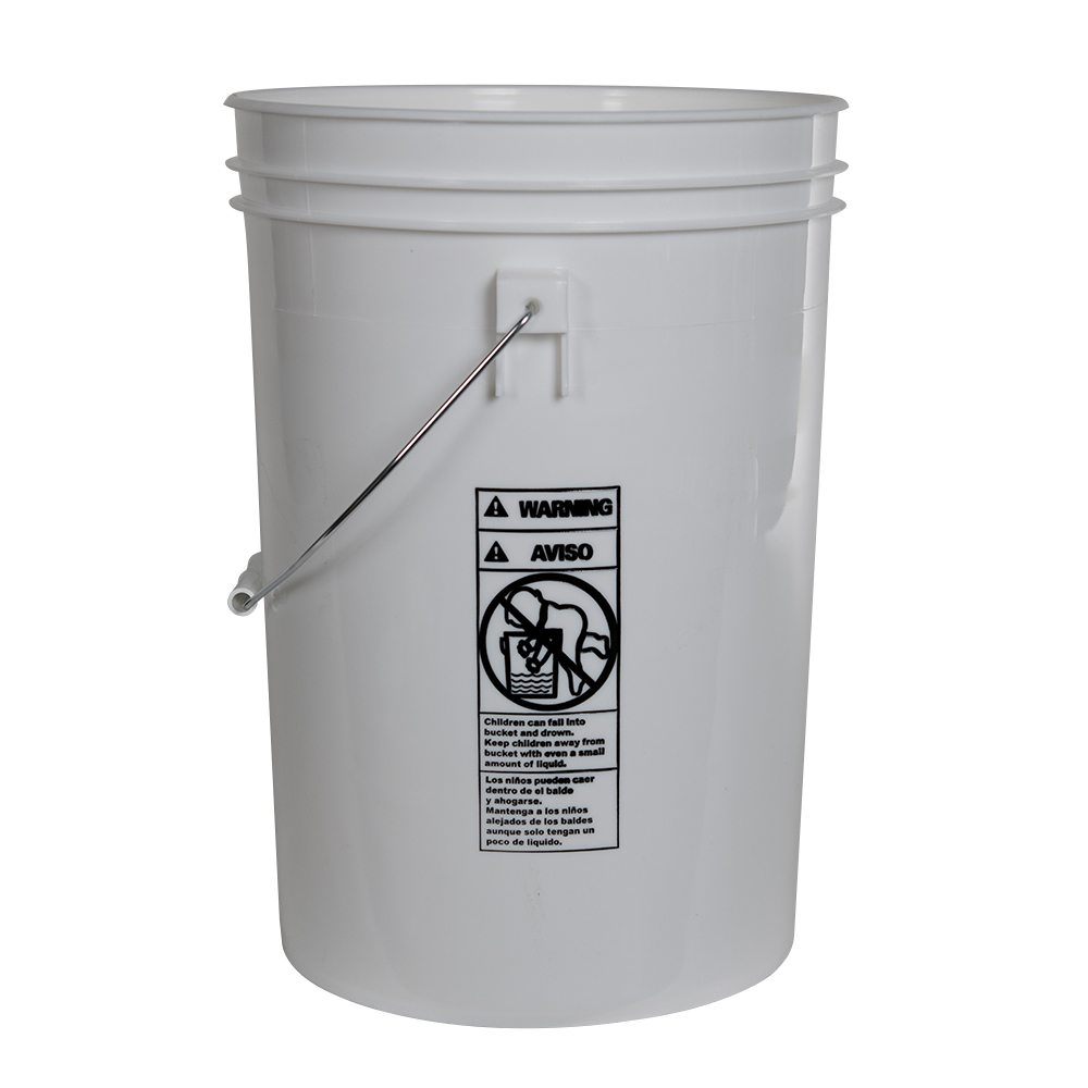 Economy White 6 Gallon Bucket (Lid Sold Separately)
