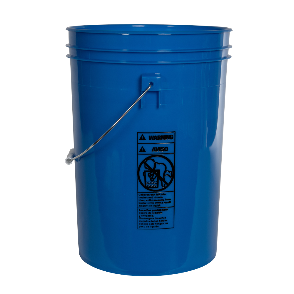 Economy Blue 6 Gallon Bucket (Lid Sold Separately)