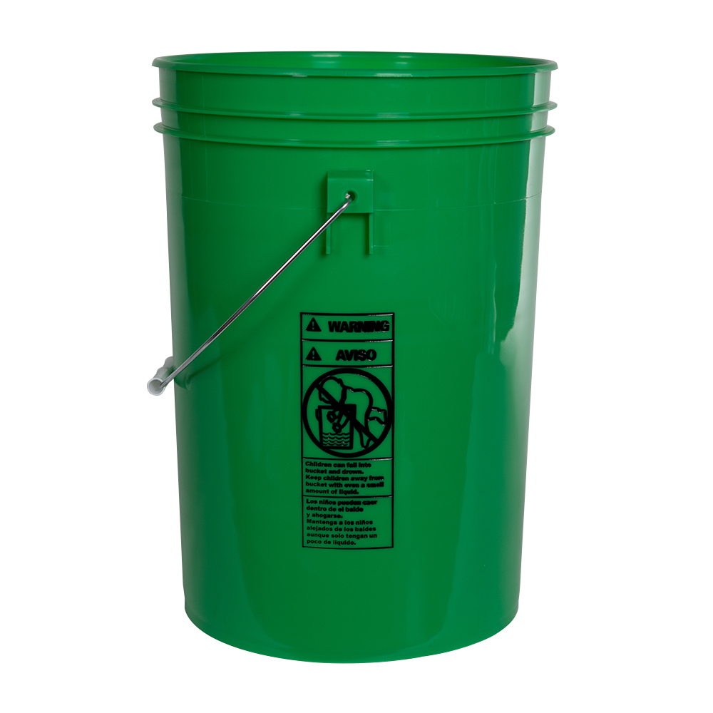 Economy Green 6 Gallon Bucket (Lid Sold Separately)