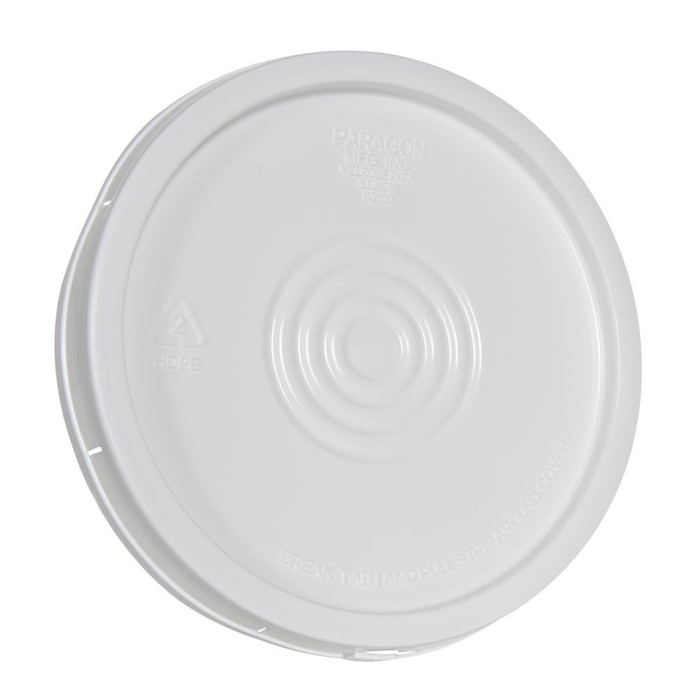 White Tear Tab Lid for 6 Gallon Economy Buckets