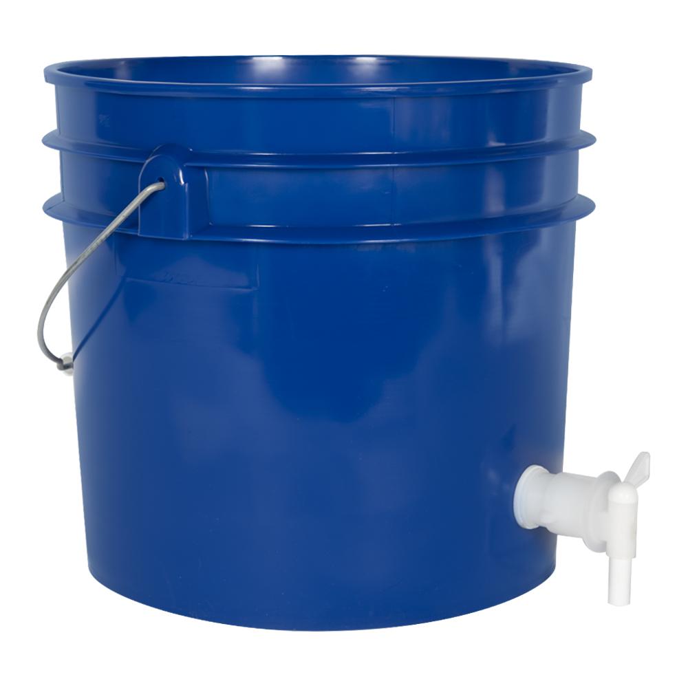 Premium Blue 3.5 Gallon Tamco® Modified Bucket with Spigot