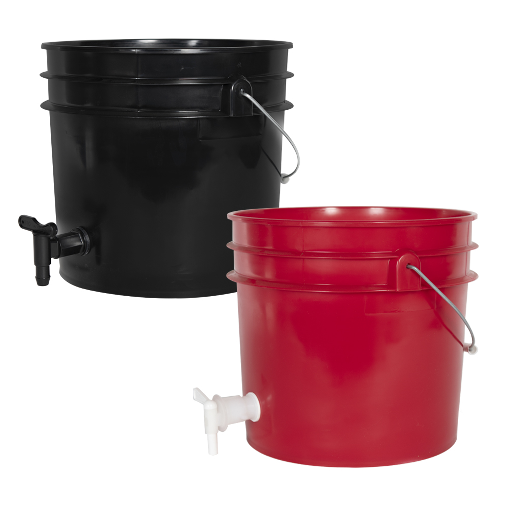 Tamco® Modified Premium 3.5 Gallon Round Buckets with Spigots