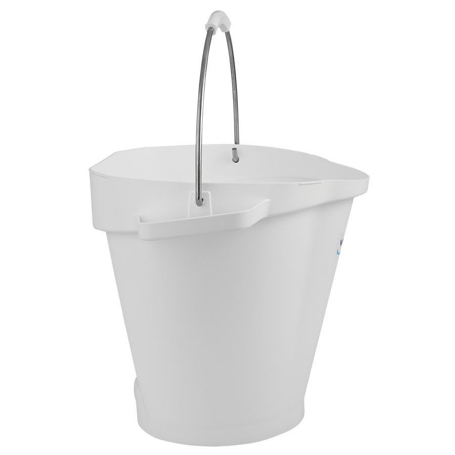 Vikan® Polypropylene White 5 Gallon Pail