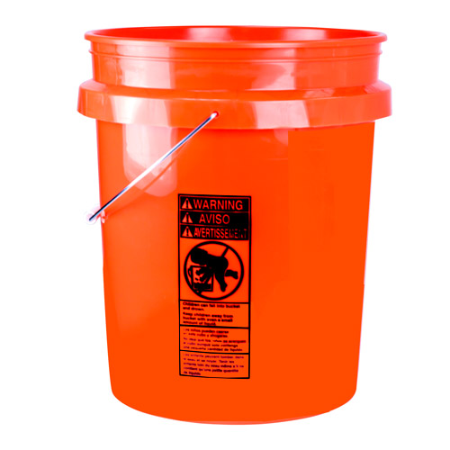 Premium Orange 5 Gallon Bucket Lid