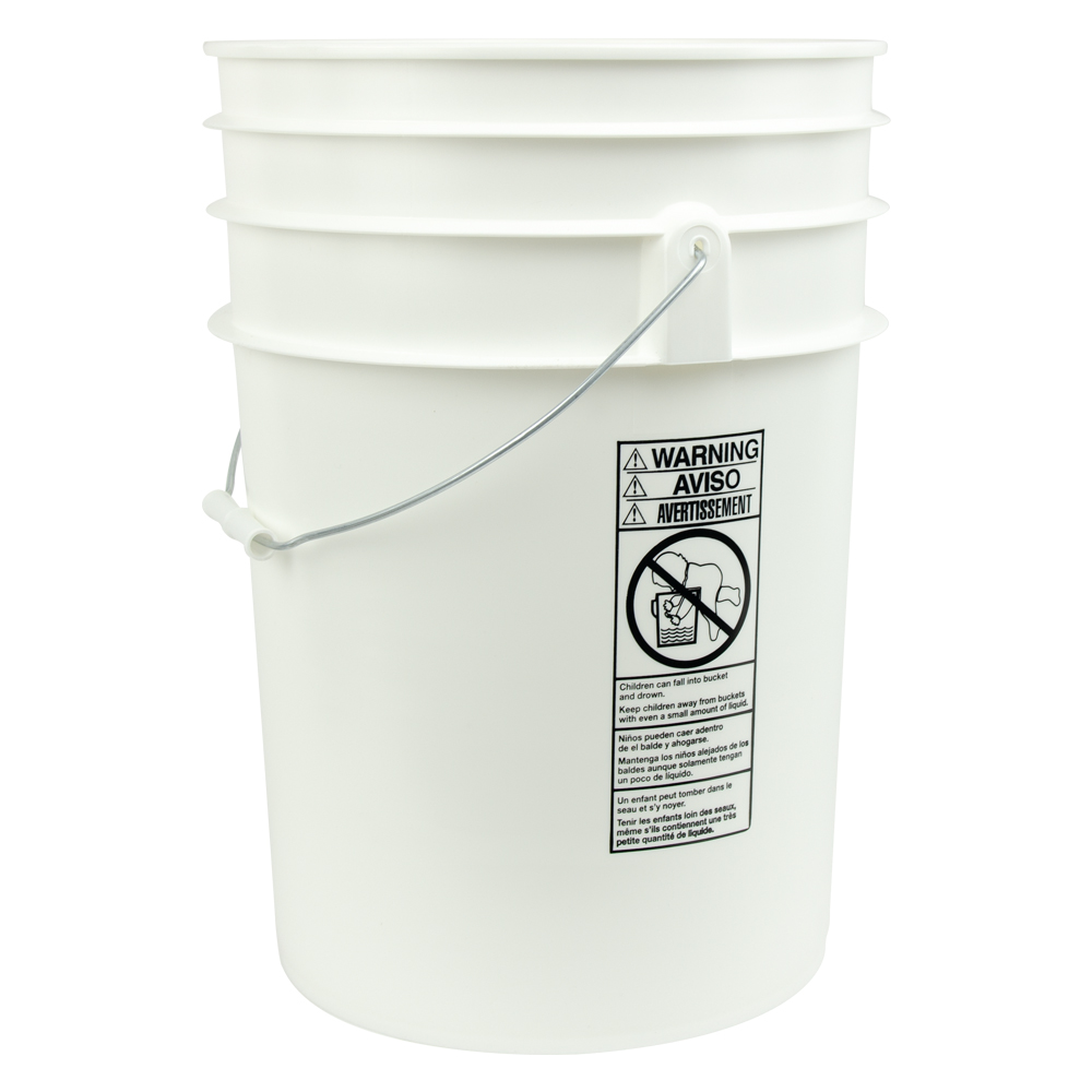 7 Gallon Round Buckets & Lids