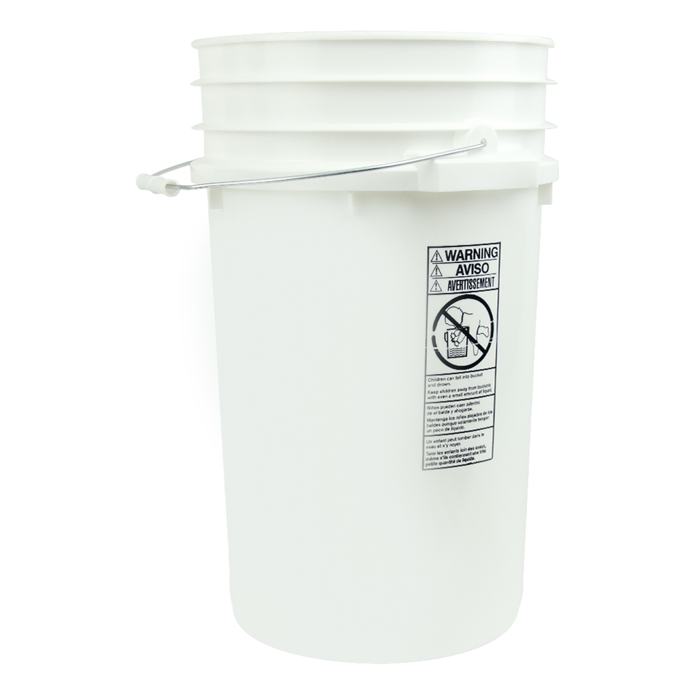 White 7 Gallon Bucket