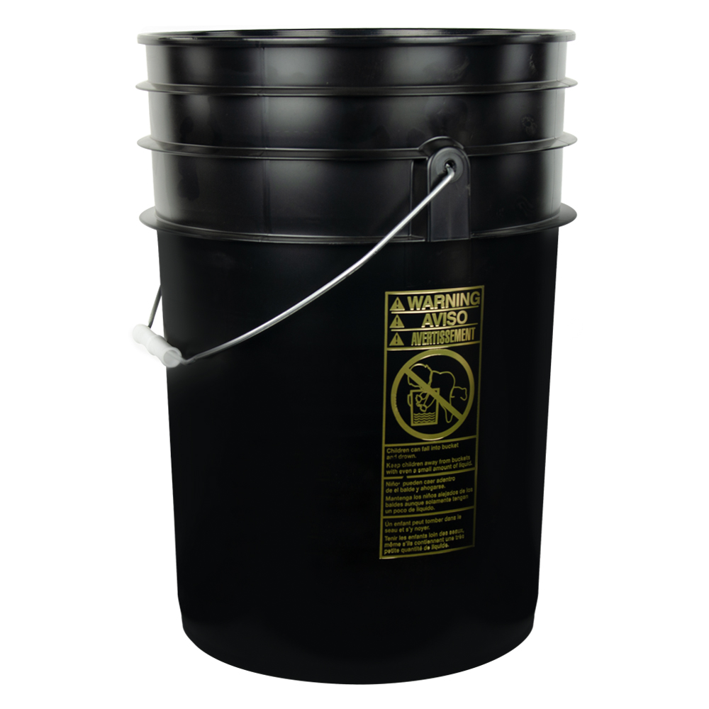 Black 6 Gallon Bucket | U S  Plastic Corp
