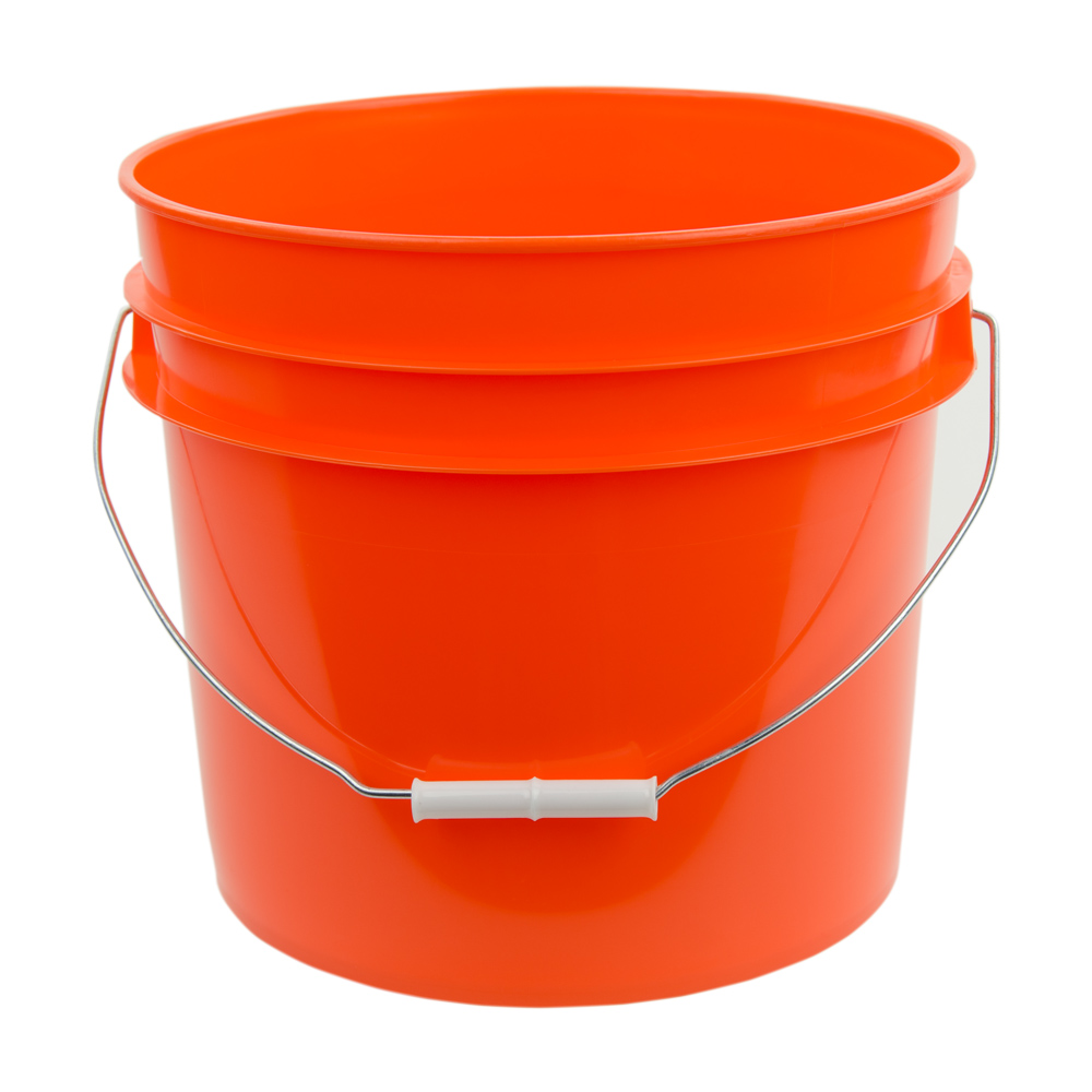 Orange 3.5 Gallon HDPE Bucket