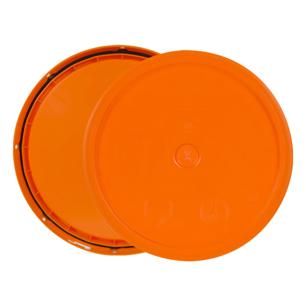 Orange 3.5 to 5.25 Gallon HDPE Lid with Tear Tab