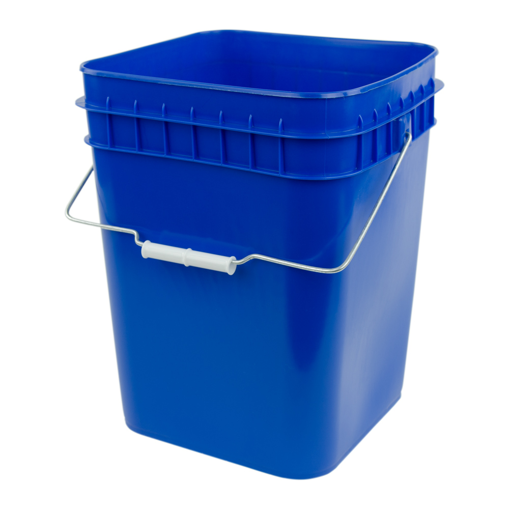 Economy Blue 4 Gallon Square Bucket U S Plastic Corp