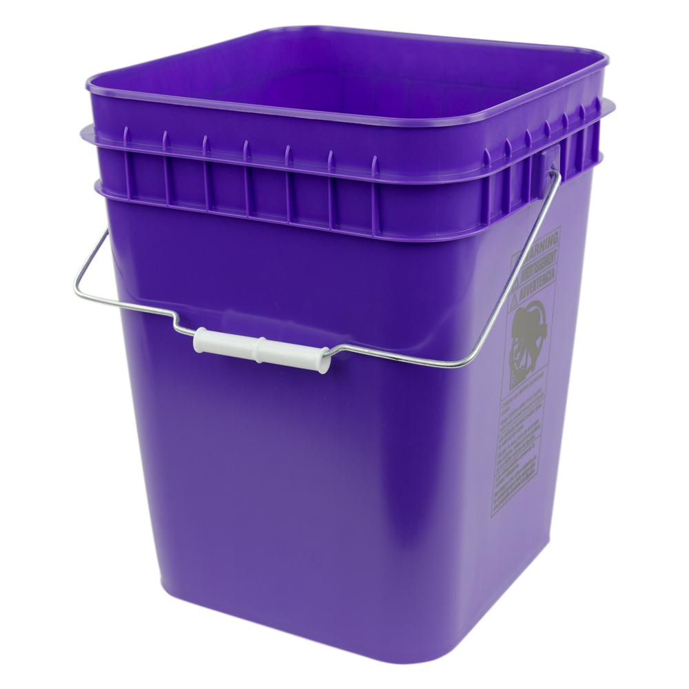 Economy Purple 4 Gallon Square Bucket