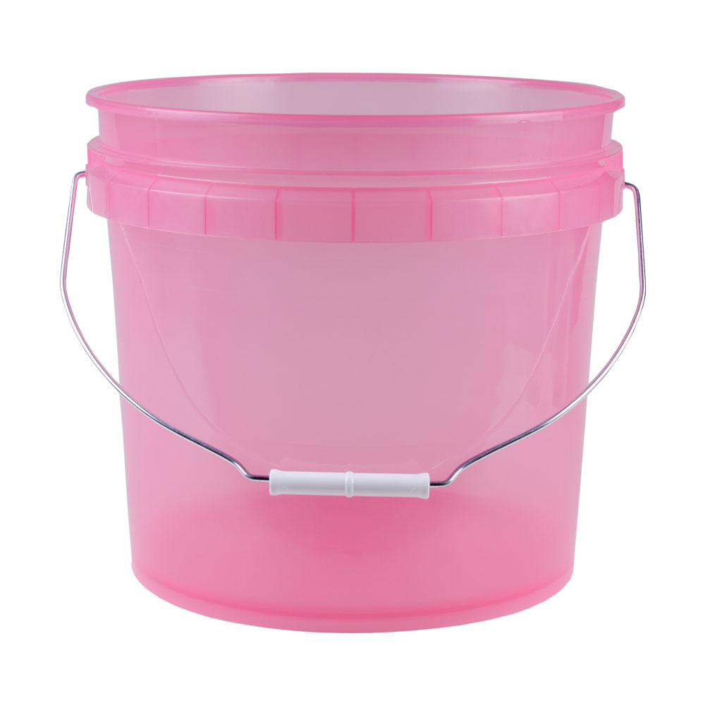 Translucent Pink 3.5 Gallon Pail