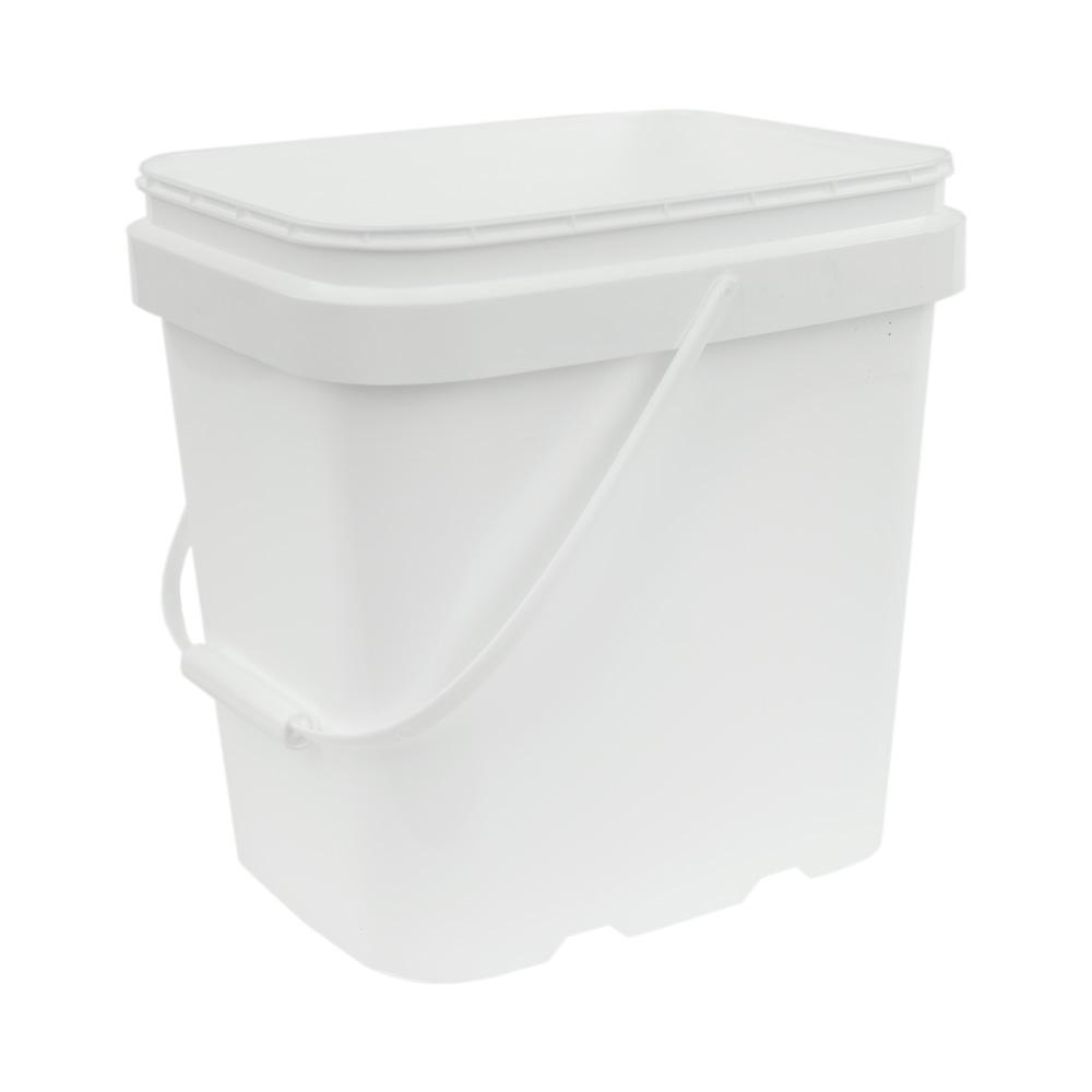 2 Gallon White EZ Stor Pail with Handle