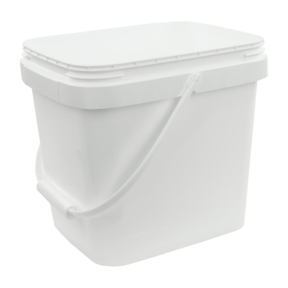 3.5 Gallon White EZ Stor Pail with Handle