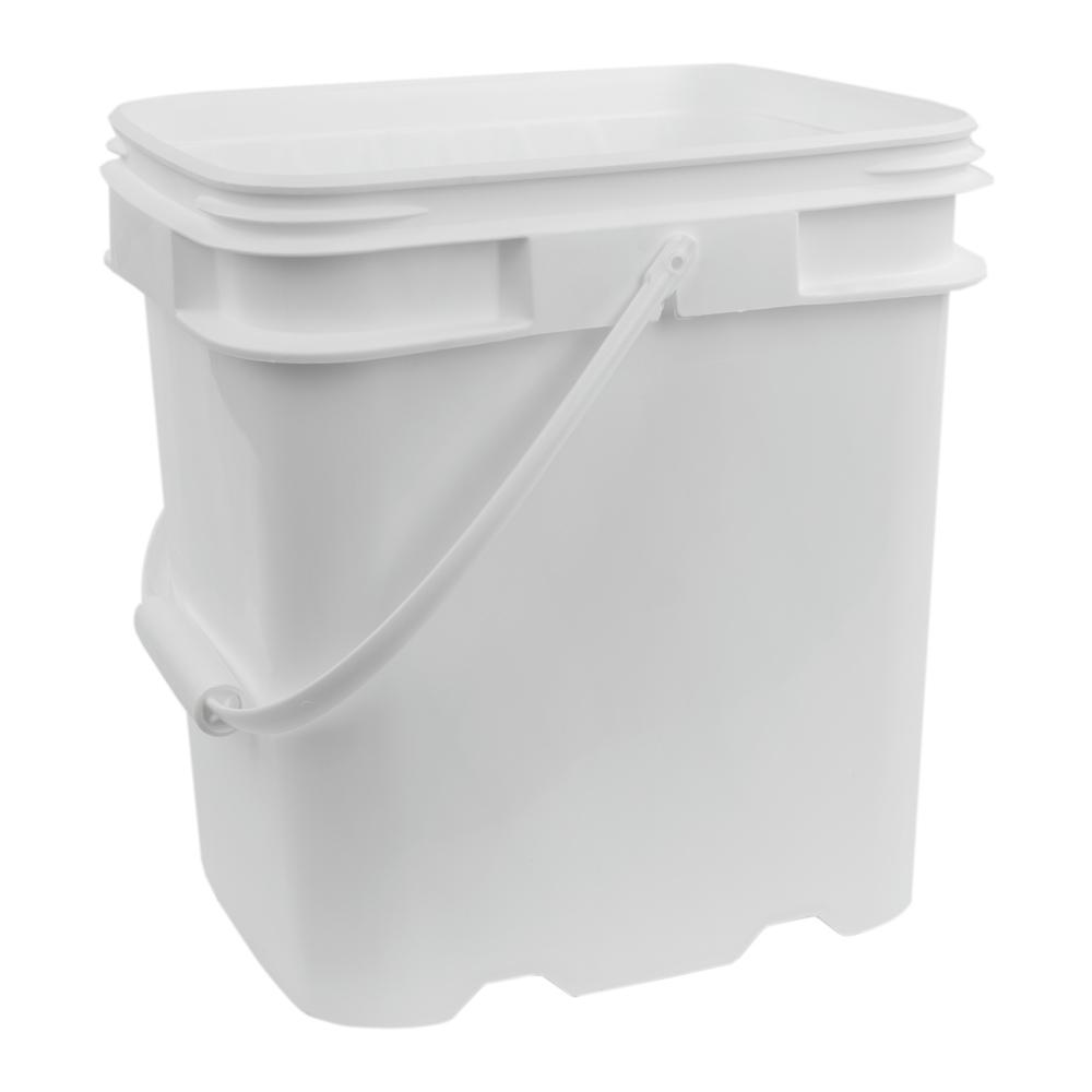 4 Gallon White EZ Stor Pail with Handle