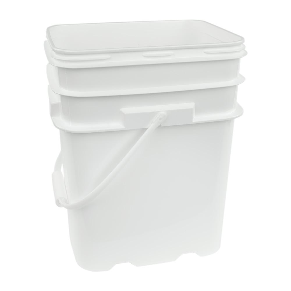5.3 Gallon White EZ Stor Pail with Handle