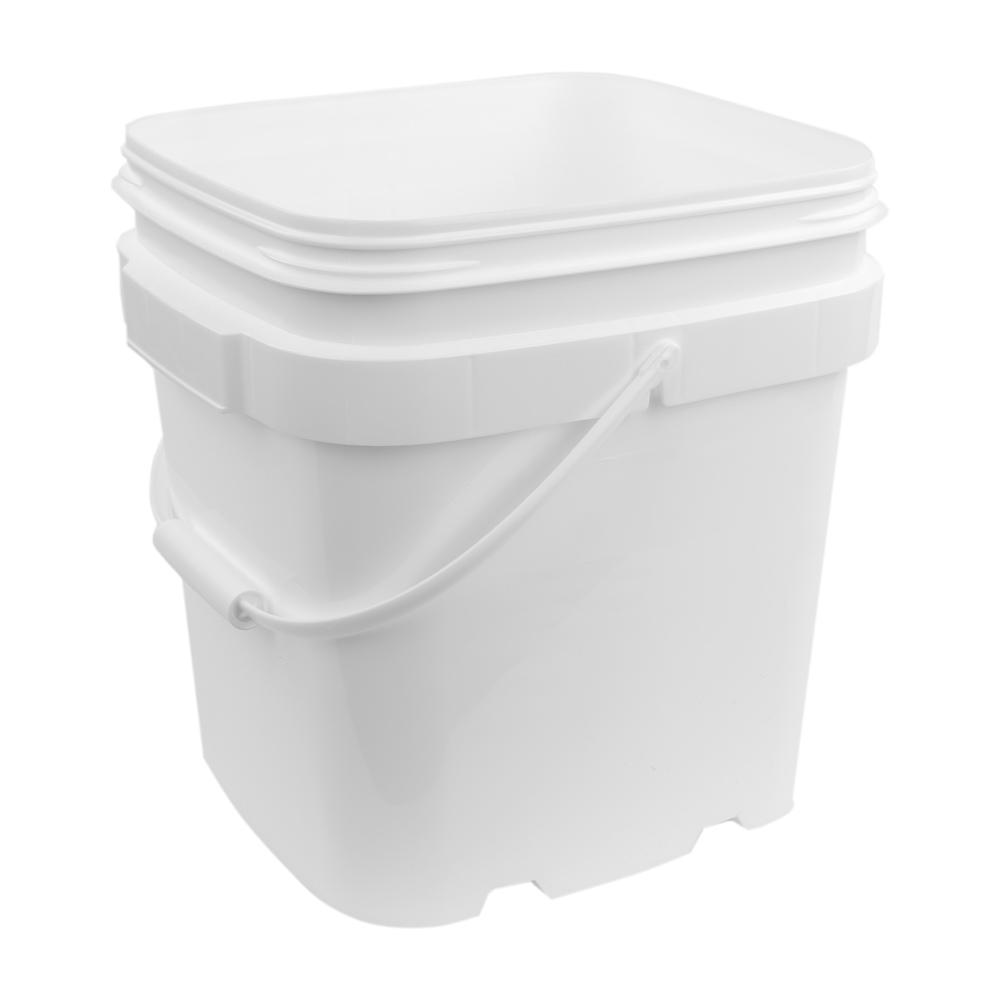 6 Gallon White EZ Stor Pail