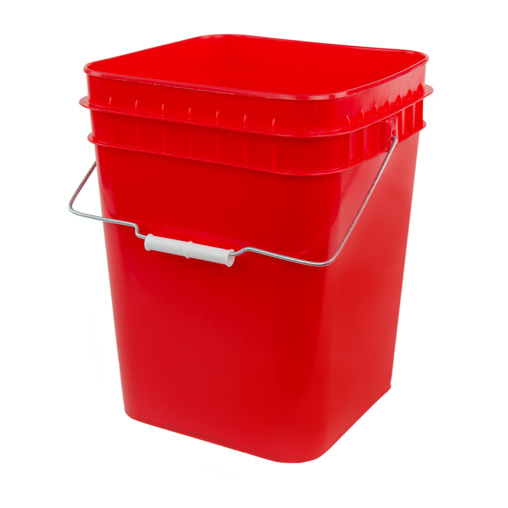 Economy Red 4 Gallon Square Bucket