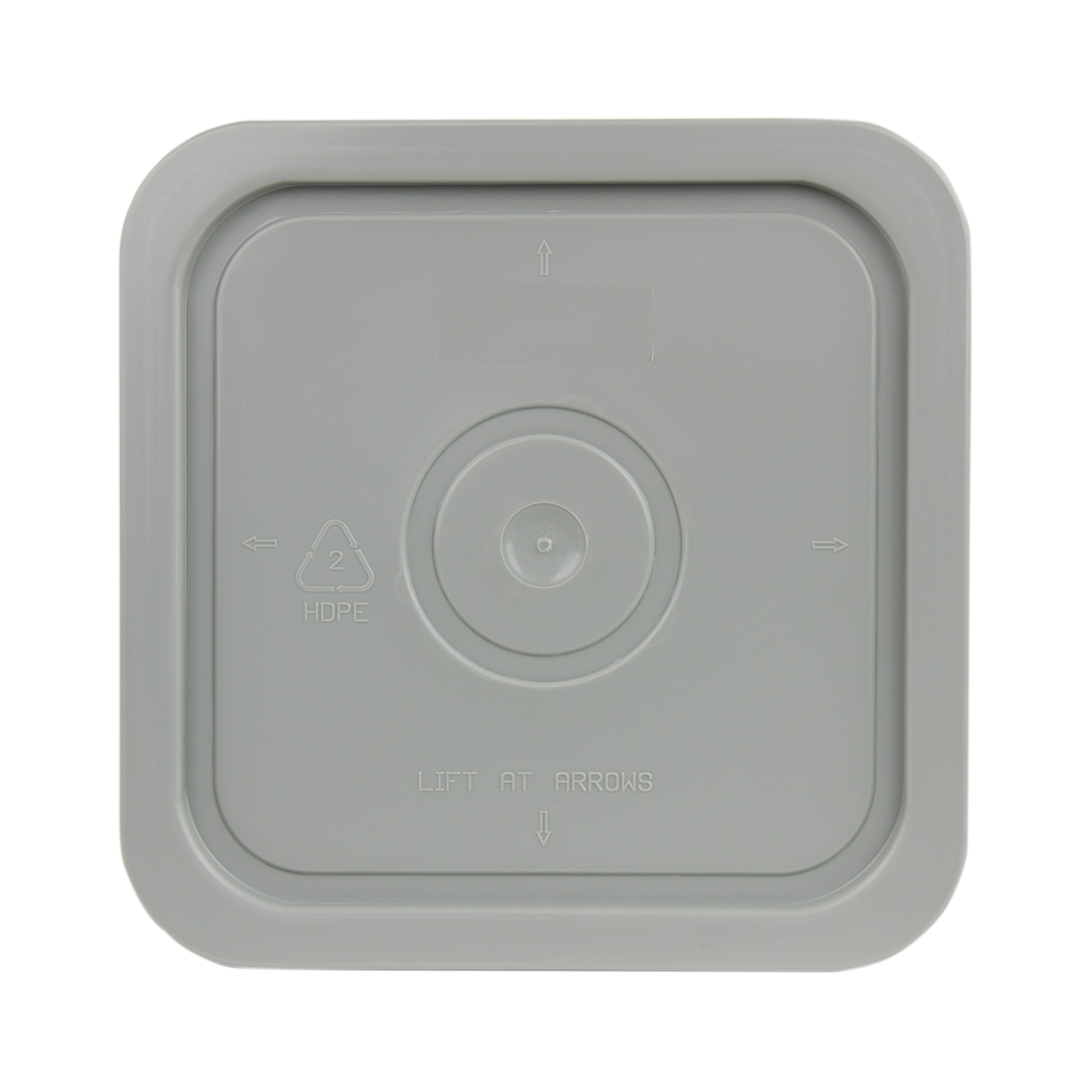 Economy Gray 4 Gallon Square Lid for Bucket # 2510