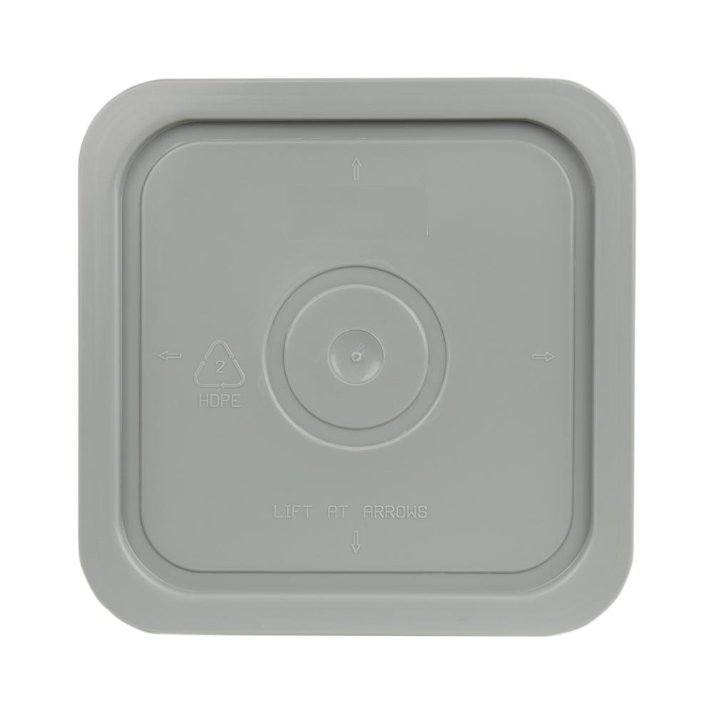 Economy Gray 4 Gallon Square Lid for Bucket # 2510