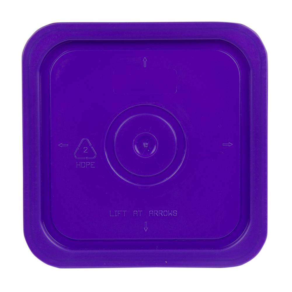 Economy Purple 4 Gallon Square Lid for Bucket # 2513
