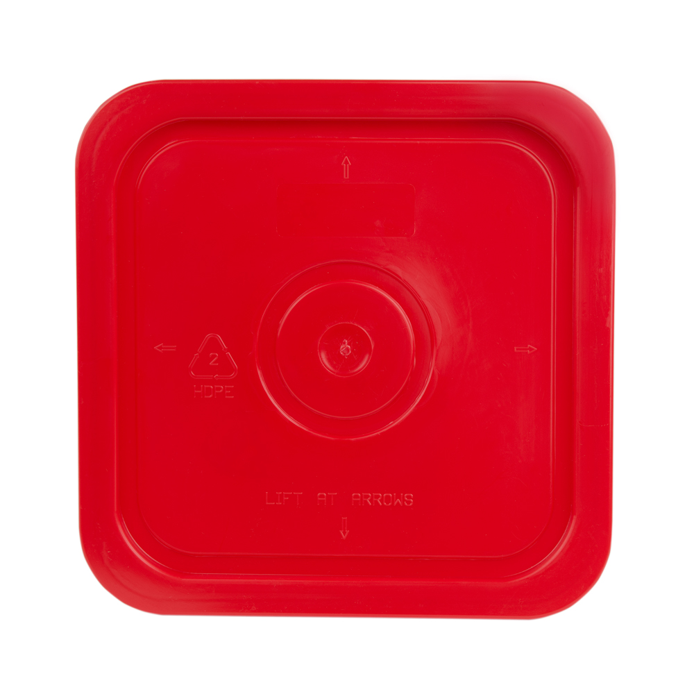 Economy Red 4 Gallon Square Lid for Bucket # 4100