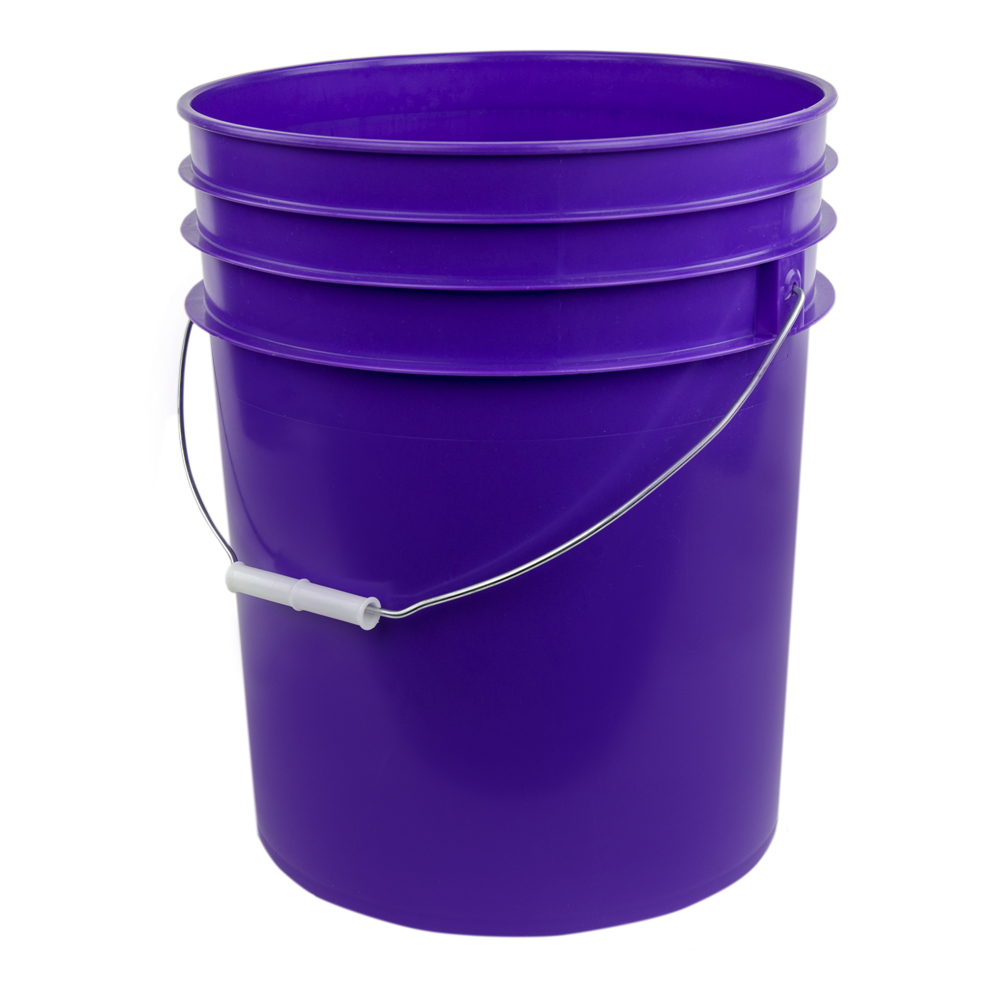 Purple 5 Gallon Premium Hdpe Bucket U S Plastic Corp