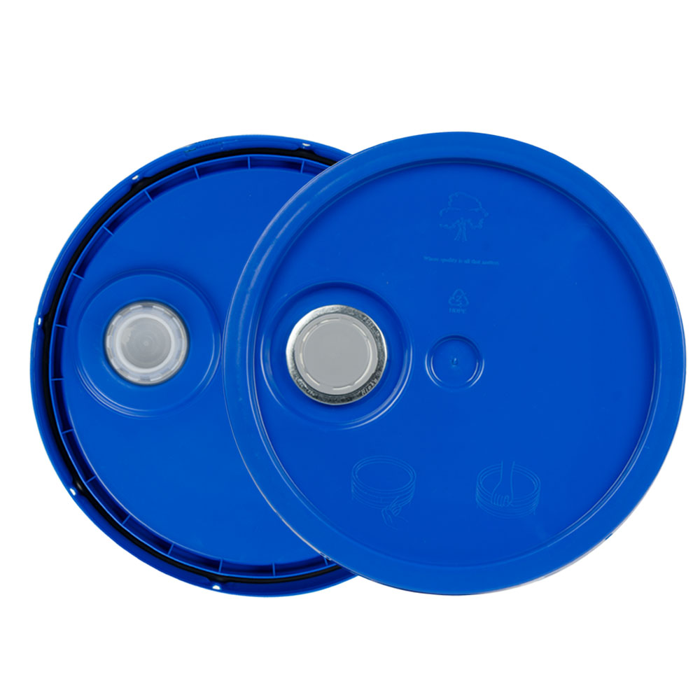Blue 3.5 to 5.25 Gallon HDPE Lid with Pour Spout