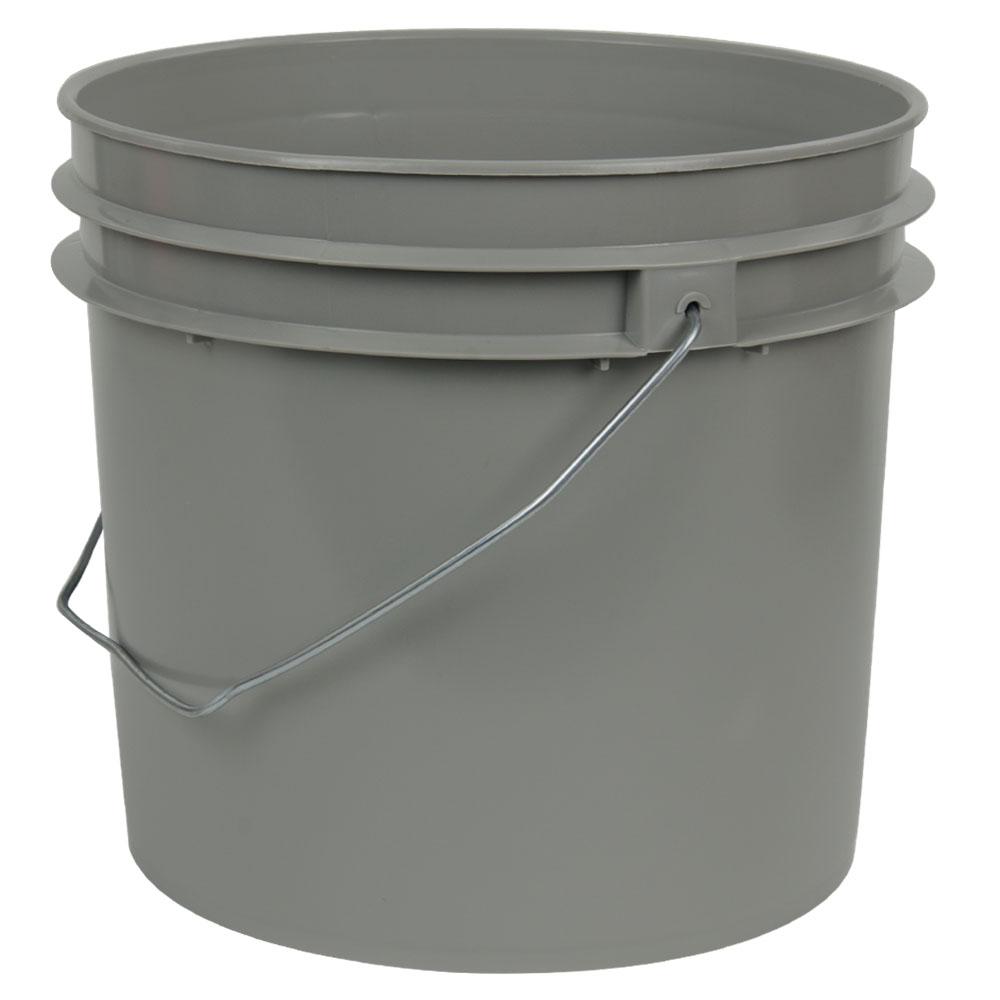 Gray 1 Gallon HDPE Bucket