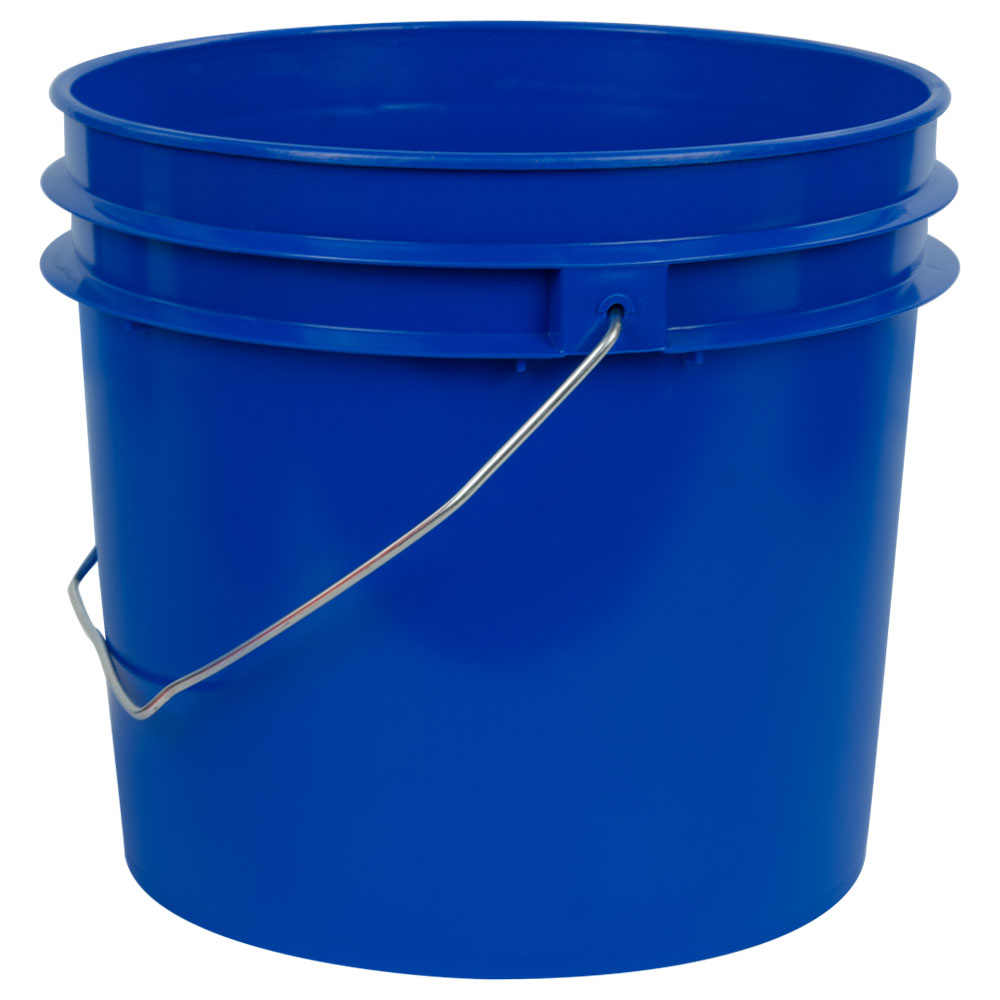 Blue 1 Gallon HDPE Bucket