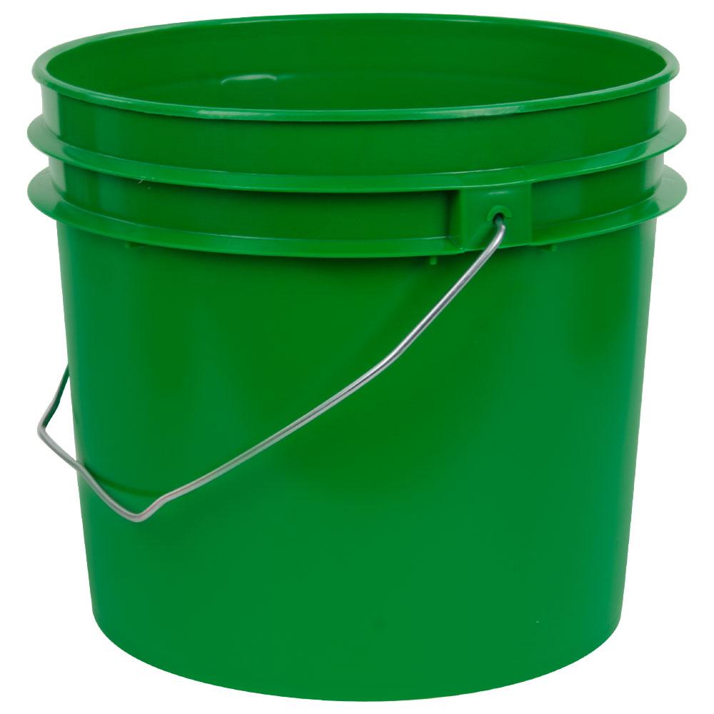 Green 1 Gallon HDPE Bucket