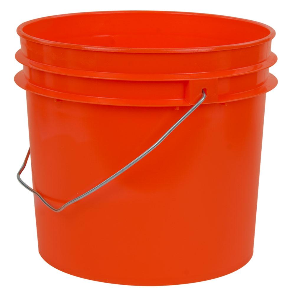 Orange 1 Gallon HDPE Bucket