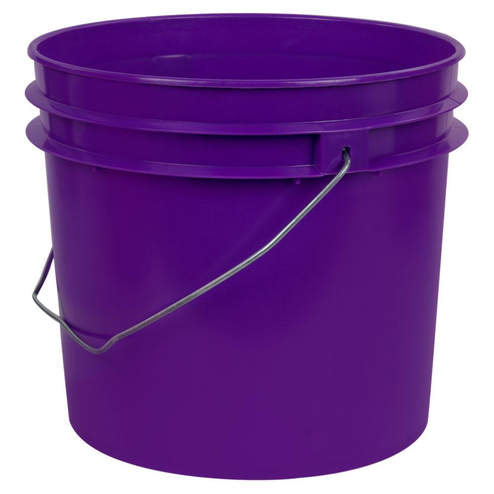 Purple 1 Gallon HDPE Bucket