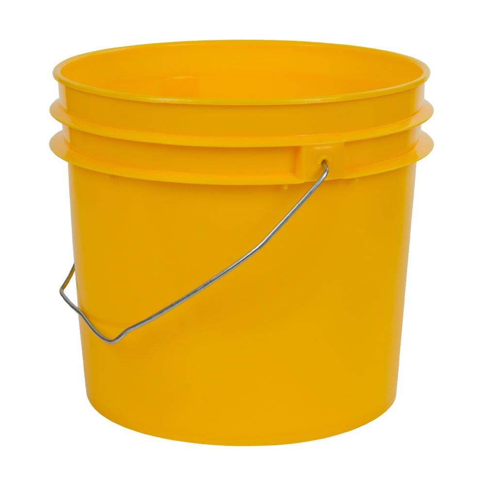 Yellow 1 Gallon HDPE Bucket