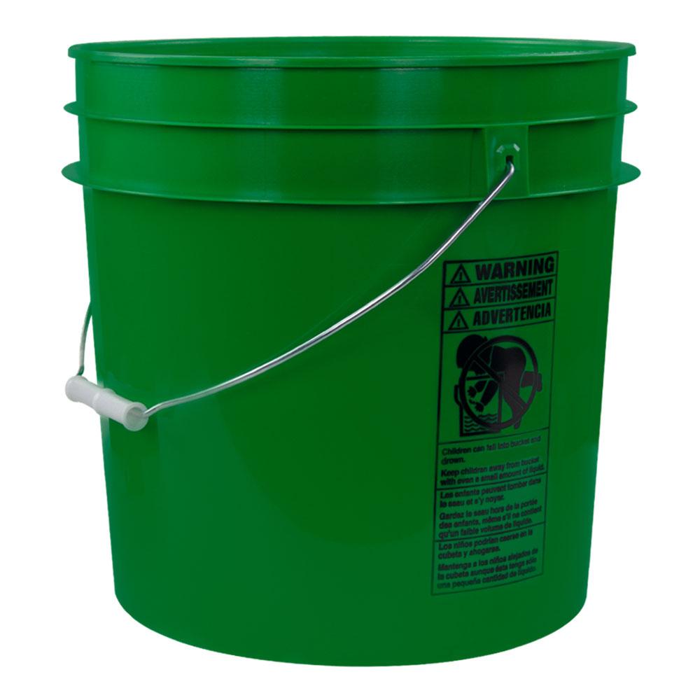 Green 4.25 Gallon HDPE Bucket