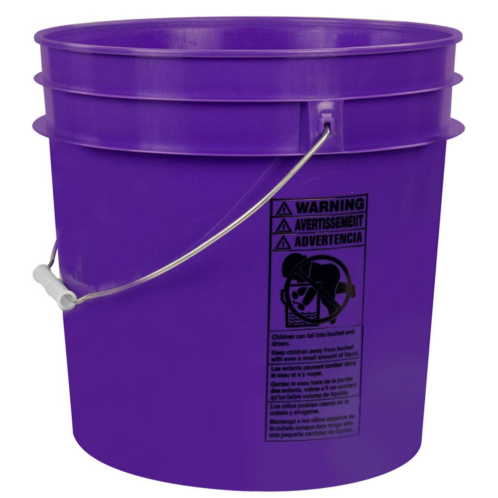 Purple 4.25 Gallon HDPE Bucket
