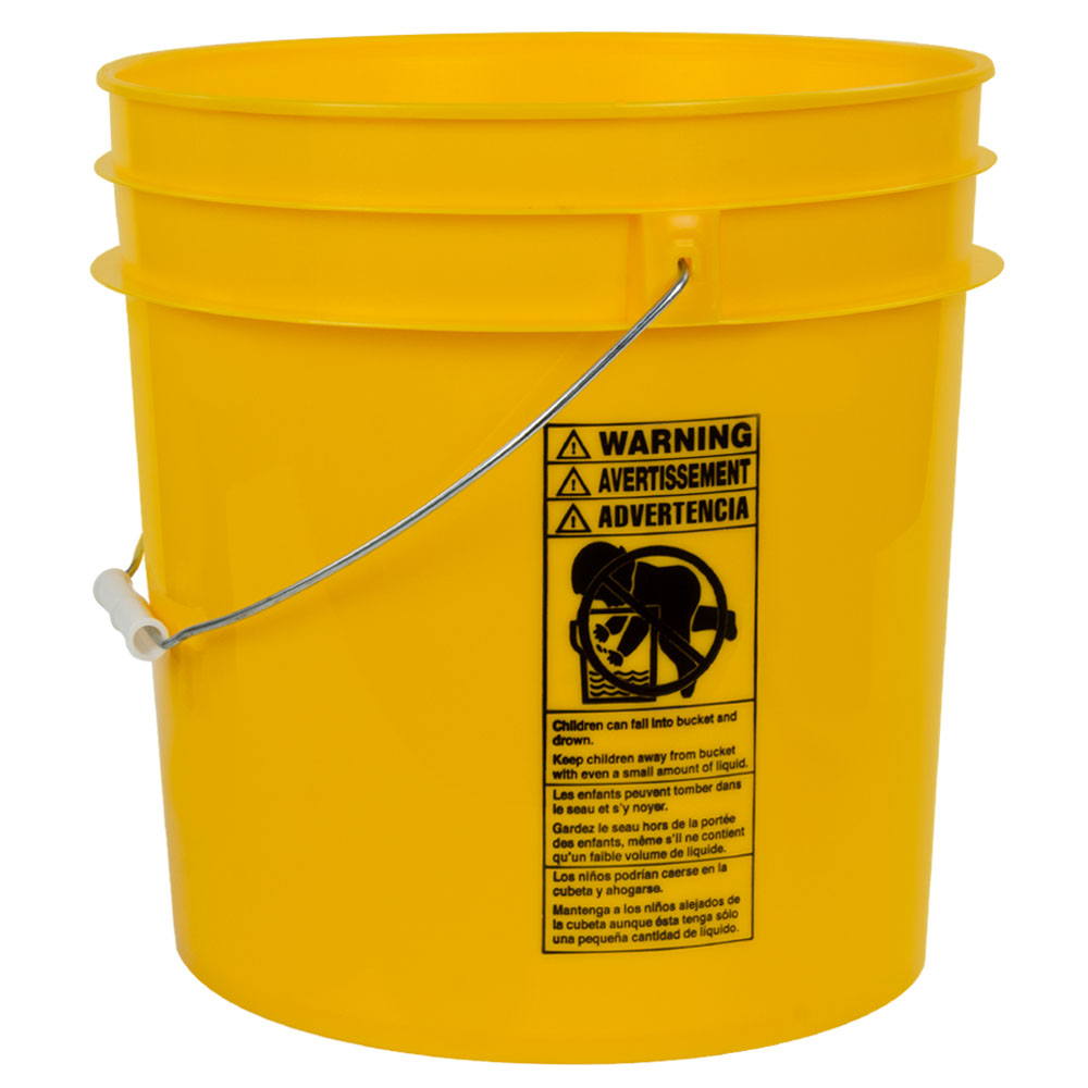 Yellow 4.25 Gallon HDPE Bucket
