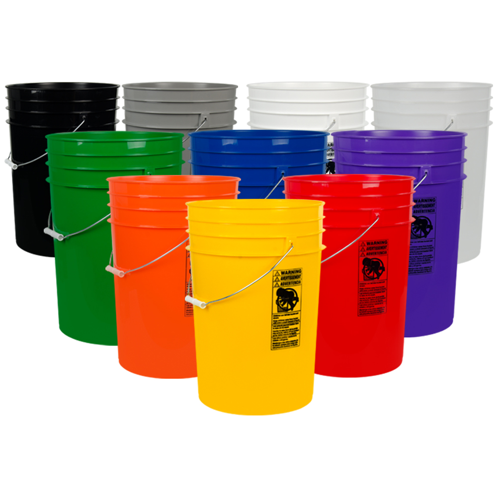 6 Gallon HDPE Buckets