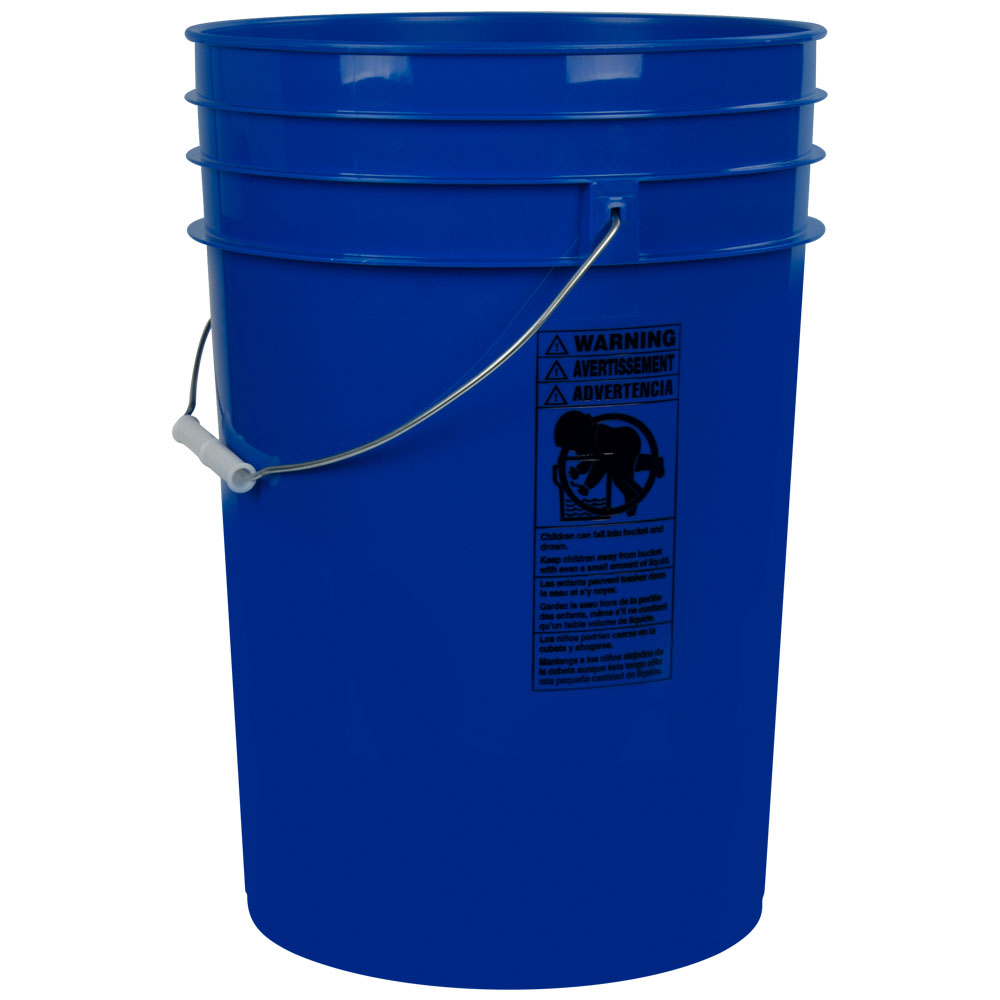 Blue 6 Gallon HDPE Bucket