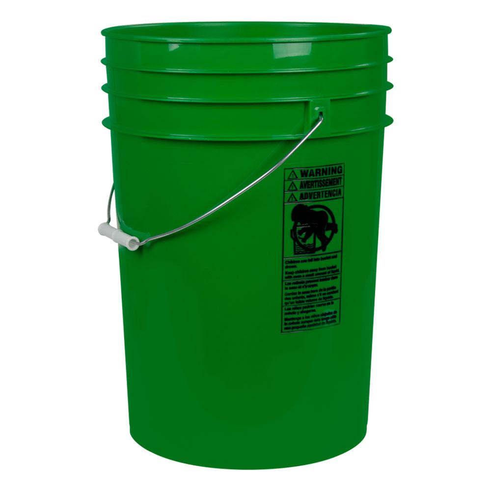 Green 6 Gallon HDPE Bucket
