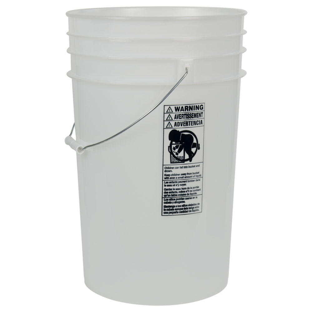 Natural 6 Gallon HDPE Bucket | U S  Plastic Corp