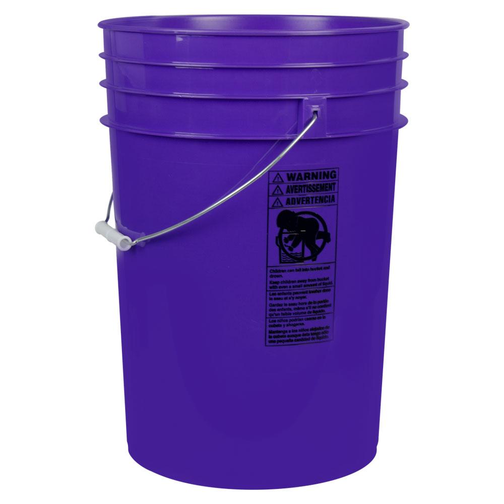 Purple 6 Gallon HDPE Bucket