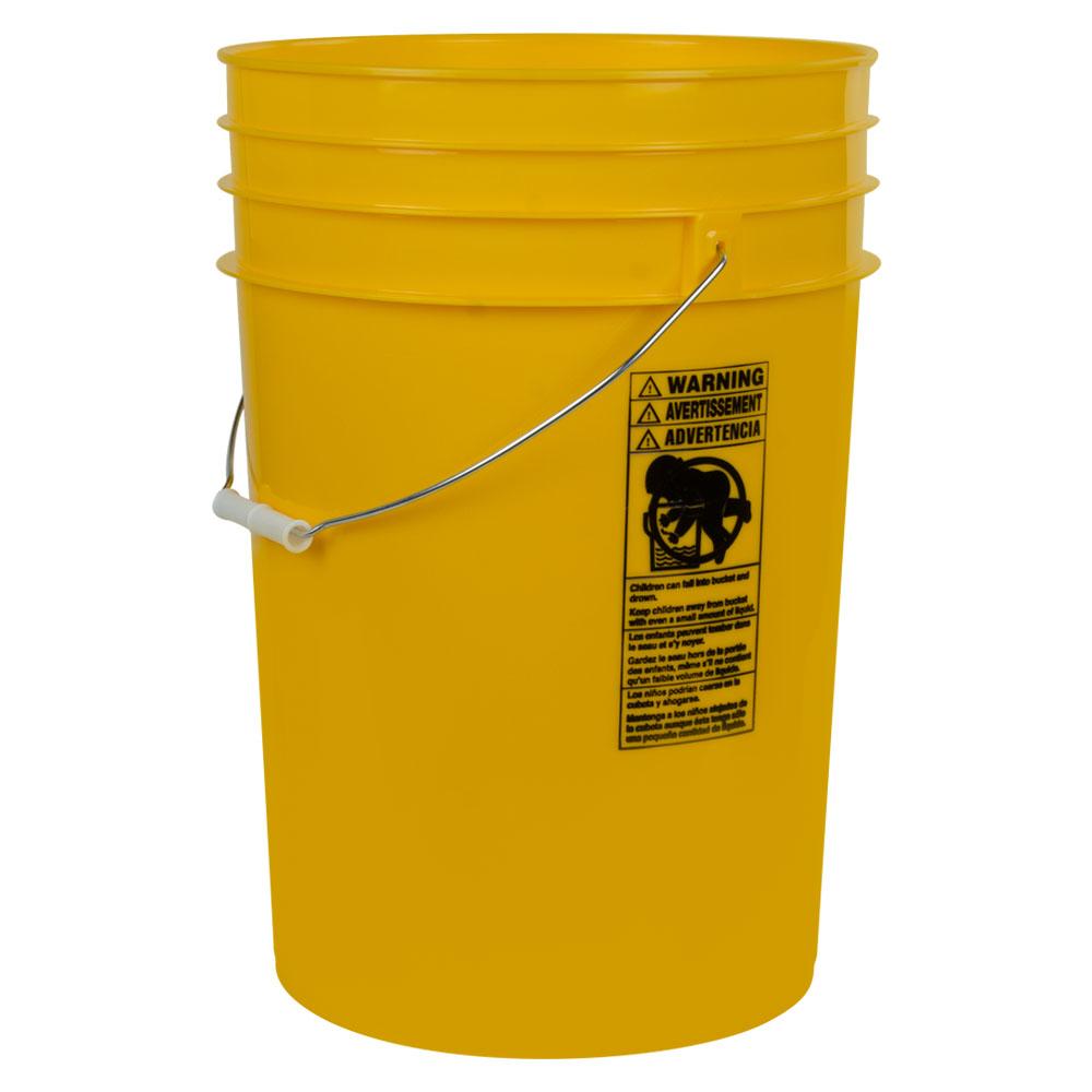 Yellow 6 Gallon HDPE Bucket